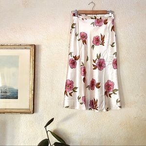 NWT Satin Floral Skirt size small